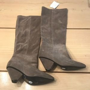 NEW Jeffrey Campbell Sz7 Suede Tall Boots